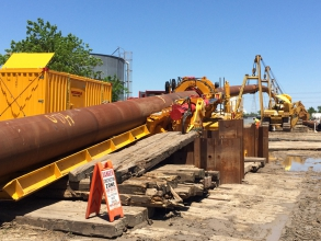 Michels used Direct Pipe methodology to complete two installations on a pipeline project in Texas.