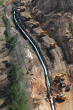 Michels constructed 371-miles of 36-inch diameter pipeline in Texas and Oklahoma.