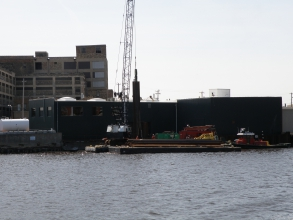 Michels rebuilt a 250-foot wakefield timber dockwall that was built in the 1930s.