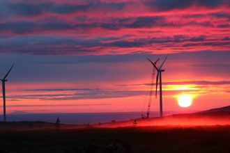 Michels constructed a 24.6-megawatt wind farm is located northeast of Healy, Alaska. Eva Creek is the largest wind farm in the state.